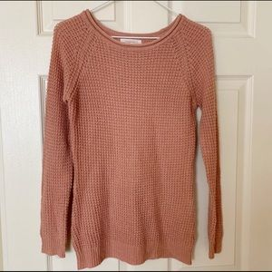 Ambiance Waffle Knit Soft Pullover Sweater